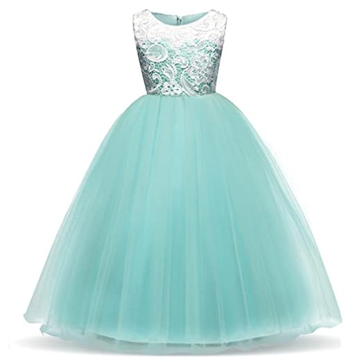 Hot Sale4 9 Years Old Baby Girl Princess Flower Bridesmaid Pageant Gown