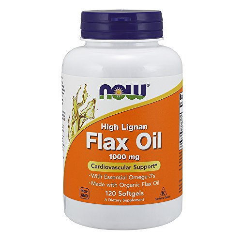 NOW Hi Lig Flax Oil,120 Softgels