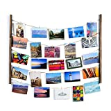 SS&Y Wood Picture Frame Collage for Multi Photo - Display Wall Decor 30'' x 26'' with 40 Clips - Vertical & Horizontal Display - Multi Pictures Organizer & Hanging Display Frames