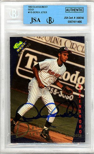 Derek-Jeter-Signed-1993-Classic-Best-Rookie-Card-115-New-York-Yankees-Vintage-JSA-Authentication-Baseball-Collectible