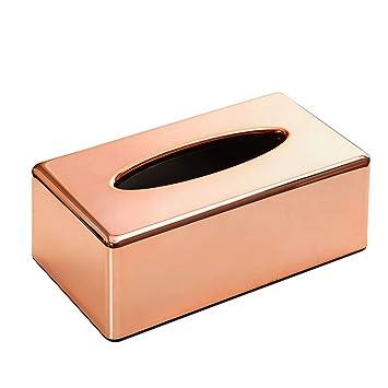 Caja de Pañuelos Caja de ABS para Toallas de Papel para Decoración Hogar y Oficina, Oro rosa, 25x14x9 cm: Amazon.es: Hogar