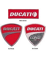 Ducati parche para planchar Patch 3pieza Moto Italia Turbo Envío
