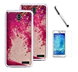 zte prelude 2 cell phone - ZTE Prestige 2 / ZTE N9136 case (Boost Mobile), Luckiefind hybrid Dual Layer Glitter Motion Cover Case, Stylus Pen, Screen Protector Accessory (Glitter Pink)