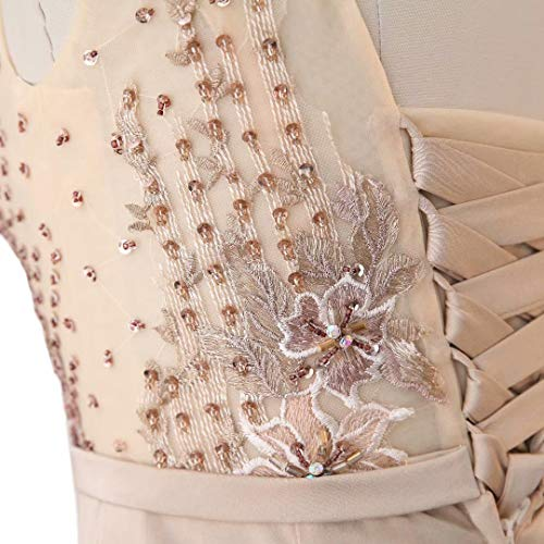 Pailletten Lange Meerjungfrau Hell Abendkleid Spitze King's Brautkleid Formale Frauen Love pink Stickerei 4wEvEqt8