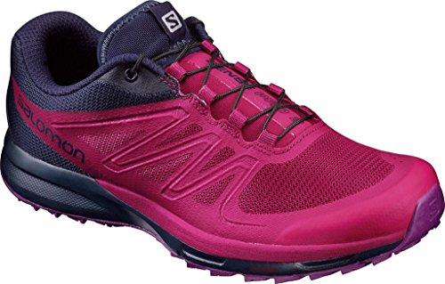 Salomon Sense Pro 2 W, Zapatillas de Trail Running para Mujer, Rojo (Sangria/Evening Blue/Grape Juice), 36 EU