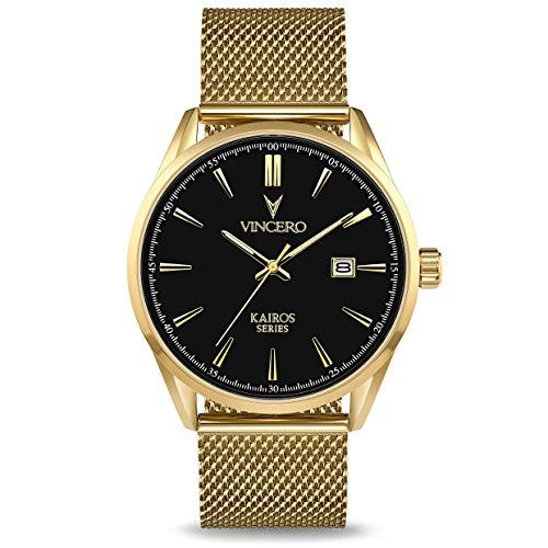 Vincero Luxury Men s Kairos Wrist Watch – 42mm Analog Watch – Japanese Quartz Movement