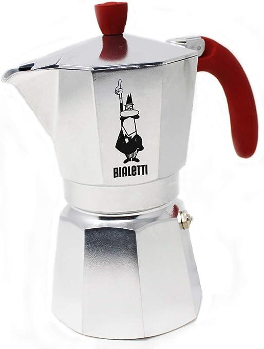 Bialetti Break Cafetera Espresso De Aluminio para 6 Tazas Empuñadura Color Rojo 6373: Amazon.es: Hogar