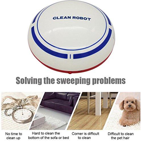 BOOMdan Floor sweeping robot Automatic USB Rechargeable Smart Robot Vacuum Floor Cleaner Sweeping Suction (White) by BOOMdan (Image #3)