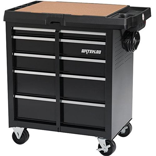 Waterloo Cart (Waterloo 5-Drawer Project Center with Integrated Power Strip - Designed, Engineered and Assembled in the USA)
