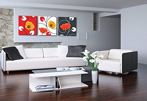 Amarillo y rojo de la amapola - arte de la lona de impresion - arte de la pared - Decoracion - Enmarcado listo para colgar # 05-055?