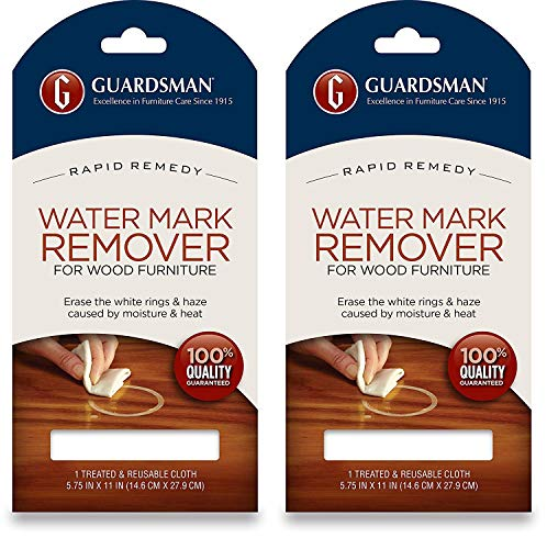 Guardsman Water Mark Remover Cloth - Erase White Rings & Haze Caused by Moisture and Heat - Reusable - 405200-2-Pack