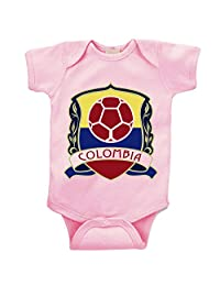 TripleBDesigns Colombia Soccer Custom Boutique Baby Bodysuit Onesie.
