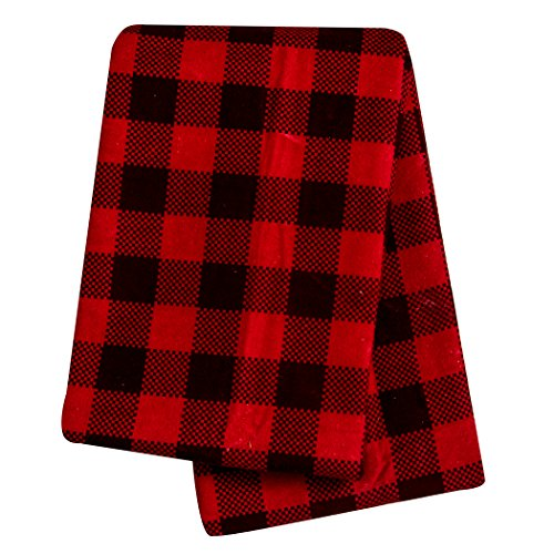 Trend Lab Swaddle Blanket, Brown and Red Buffalo Check ()