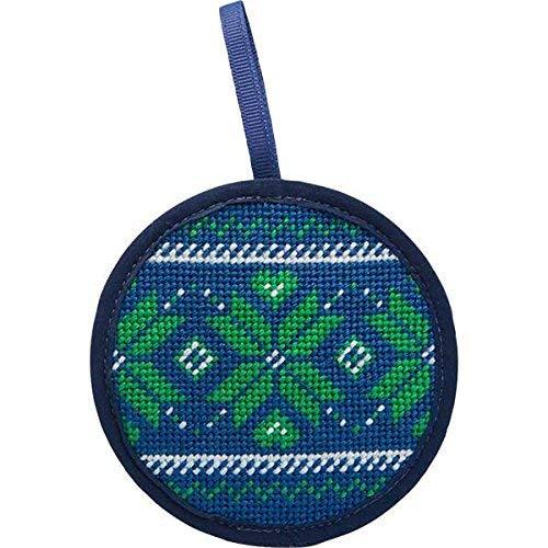 Alice Peterson Stitch-Ups Fair Isle Blue Needlepoint Ornament Kit
