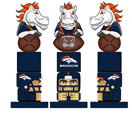 Team Sports America NFL Denver Broncos Tiki Totem