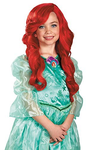 UHC Disney Princess The Little Mermaid Ariel Red Wig Child Costume Accessory -