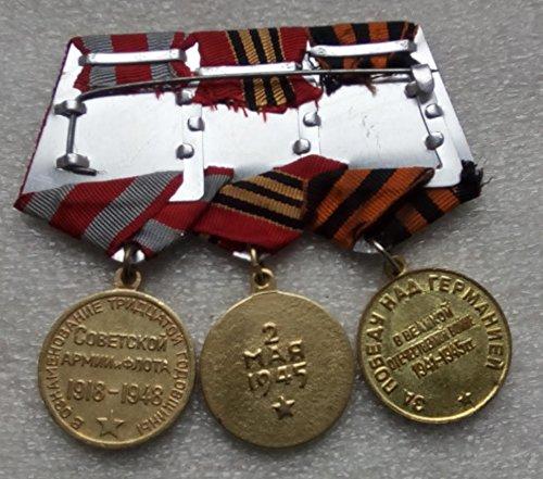 Set 3 Soviet Army USSR Russian Ukrainian Medals Veteran WW II Lenin Stalin Berlin