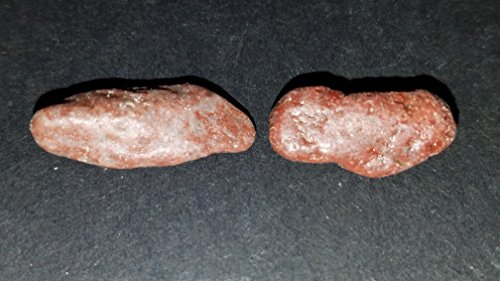 (#5) 2pc Extremely Rare Tumbled Cinnabar 100% Natural Crystal Healing Gemstone Specimens