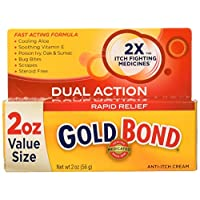 Gold Bond Rapid Relief Anti Itch Cream, 2 Ounce Tube