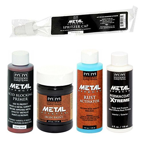 Modern Masters Metal Effects Iron Paint & Rust Activator Kit (Best Metal Rust Paint)