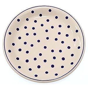 Classic Boleslawiec Pottery Hand Painted Ceramic Dinner Plate Diameter: 26.0cm /10.2 inch (T-075)