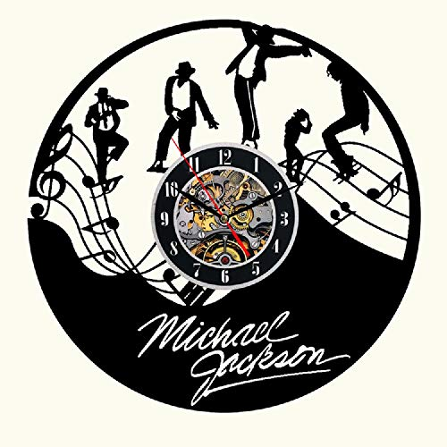 Home & Crafts Michael Jackson Handmade Vinyl Wall Clock Decor for Walls from Vinyl Records Handmade Reclaimed Decoration Wall Decor Sign