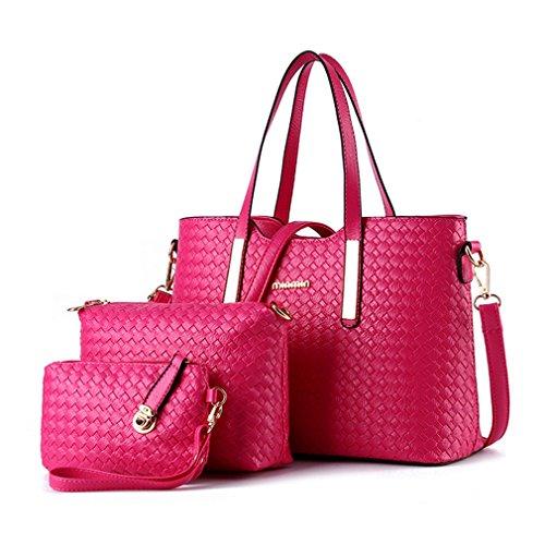 G&T European Style Woven Three-piece Suit PU Leather Handbag Messenger Bag Shoulder Bag(C4) - Affordable Suits Sydney