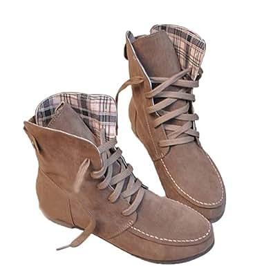 Amazon.com | Angel Wings Girls Lace up Winter Boots Flat