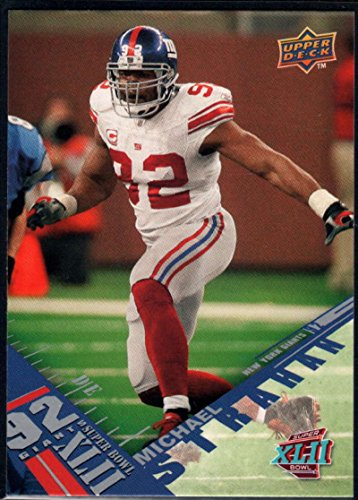 Football NFL 2008 Upper Deck Super Bowl XLII #30 Michael Strahan NY (Michael Strahan New York Giants)