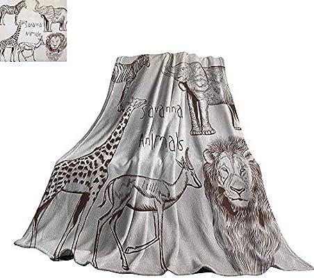 Amazon.com: RenteriaDecor Safari,Throw Blankets Collection ...