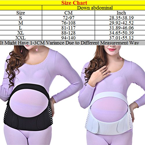Zhhlinyuan Maternity Support Belt Waist Back Abdomen Belly Band Soft Seamless Breathable for mujeres embarazadas White