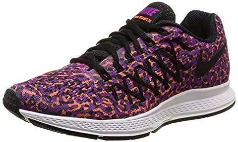 Nike Womens Air Zoom Pegasus 32 Print - VIVID PURPLE/BLACK-HYPR ORANGE - 7