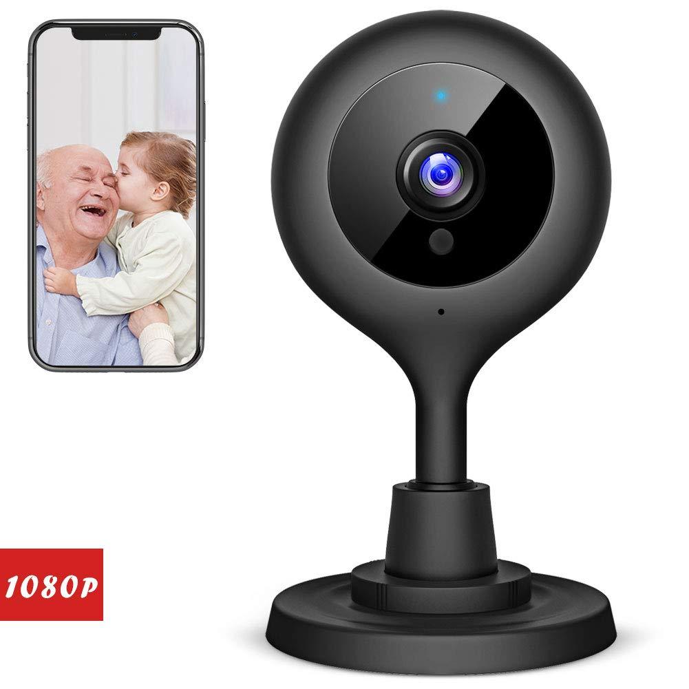 Victure 1080P FHD WLAN IP Kamera,Ü berwachungskamera mit Nachtsicht, Bewegungserkennung, Zwei-Wege Audio,Sicherheitskamera Home Indoor-Kamera fü r Haustier/Baby Monitor (1080P-Black)