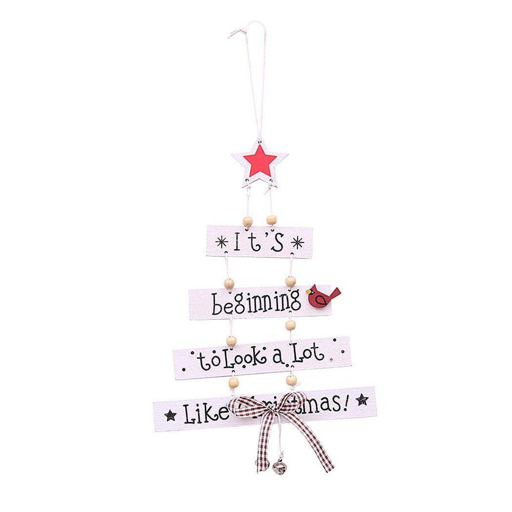 olseti Wood Letter Christmas Tree Hanging Ornaments DIY Home Party Festival Dec Pendants, Drops & Finials