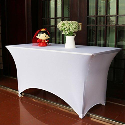 Create Idear White Rectangular Table Cover Spandex Lycra