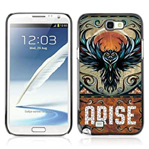 Designer Depo Hard Protection Case for Samsung Galaxy Note 2 N7100 / Awesome Owl Arise Art