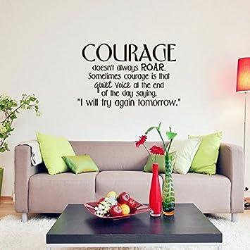 Schon SISANLAI Englisch Wall Sticker Geschnitzten Selbstklebende Wandaufkleber  Mut Mut Kreative Schlafzimmer Einrichtung Hintergrund.