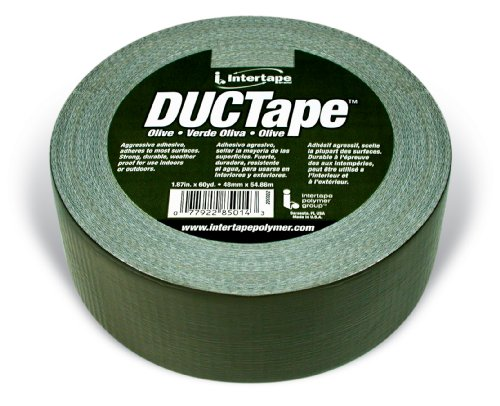 Intertape Polymer Group 20C-OD 2 AC20 9mil DUCTape, 1.88-Inch x 60-Yard, Olive Drab