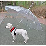 ONE-SIZEサイズ ホワイト色 犬用傘付きリード PUPPIA パピア 犬 犬用 ペット ドッグ ペット ペットグッズ 雨 雨具