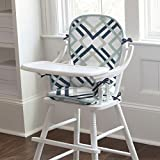Carousel Designs Navy and Gray Geometric High Chair Pad