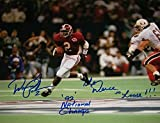 David Palmer Signed Autographed Auto Alabama Crimson Tide 11x14 Photo w/The Deuce is Loose & 92 National Champs - Proof