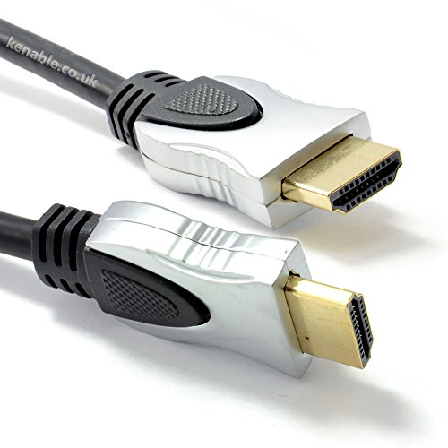 Kenable PURE HDMI 2.0a 2160p 4k 2k Ultra HD 3D TV Cable Lead Gold Plated 2.5m (~8 feet)