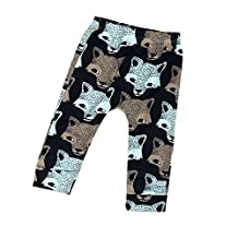 GQMART Baby Boys Girls Wolf Pattern Harem Pants Long Trousers Baby Clothes