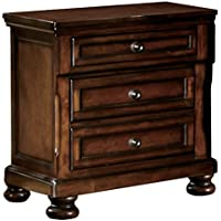 Homelegance Cumberland Two-Drawer Nightstand, Cherry
