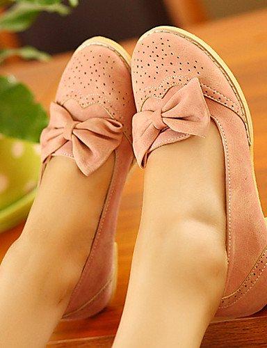 Beige Casual de Flats mujer zapatos us6 plano rosa redonda talón eu36 PDX cn36 punta uk4 piel azul sintética de pink 6qdcW6xPR