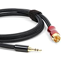 Micca Premium SPDIF Digital Coaxial Audio Cable - 3.5mm (1/8) to RCA, 3ft, Compatible with FiiO X3, X5