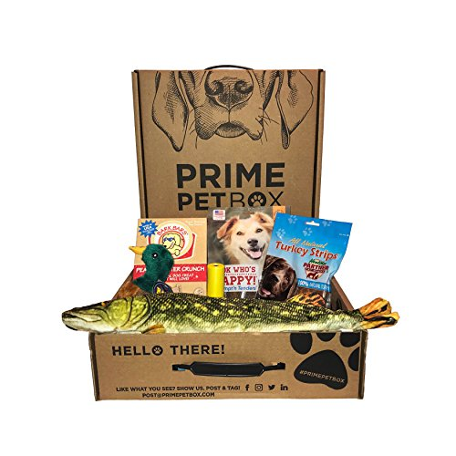 Prime Pet Box Wildlife Dog Gift Box Care Package - Made in the USA Premium Treats, 18