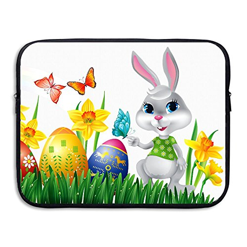 Bxse Happy Easter Bunny Easter Eggs Laptop Bag Liner Bag Computer Sleeve Portable Water Resistant Laptop Case Tablet Case Computer Accessories For Macbook Air (Egg Throwing Halloween)