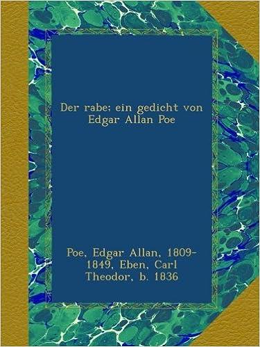 Buy Der Rabe Ein Gedicht Von Edgar Allan Poe Book Online At