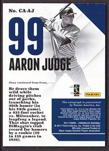 2017 Panini Chronicles Baseball Autograph Blue #CA-AJ Aaron ...